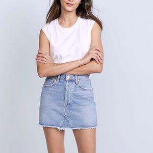 Agolde Quinn Denim Skirt